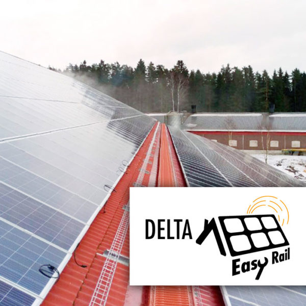Delta aurinkopaneelien asennustelineet harjakaton