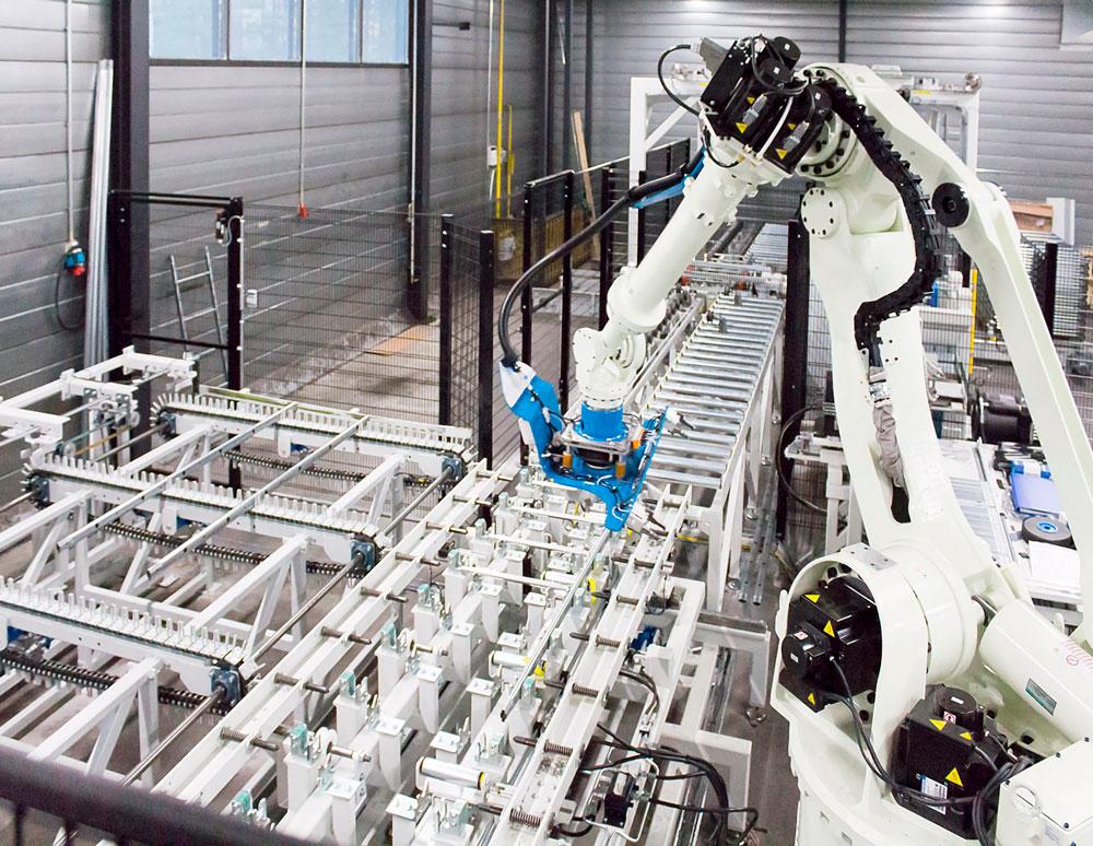Orima-Tuotteen robotisoitu tikkaiden tuotantolinja